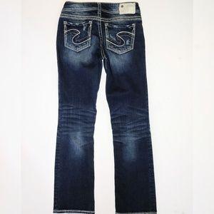 "Silver Jeans 28 x 31 Suki 17"" Dark Boot Bootcut"